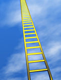 Gouden ladder in de hemel Royalty-vrije Stock Afbeelding