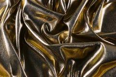 Gouden lamé Stock Foto