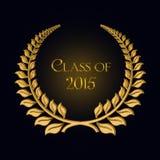 Gouden laurier voor de graduatie van 2015 vector illustratie