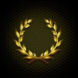 Gouden lauwerkrans vectorillustratie royalty-vrije illustratie