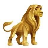Gouden leeuw stock illustratie