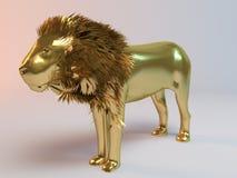 Gouden leeuw Royalty-vrije Stock Afbeelding