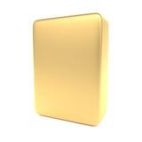 Gouden lege doos die op wit wordt geïsoleerde Stock Foto's