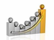 Gouden leider van commercieel team stock illustratie