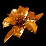 Gouden leliebloem op een donkere achtergrond Royalty-vrije Stock Afbeelding