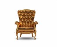 Gouden leunstoel Royalty-vrije Stock Fotografie