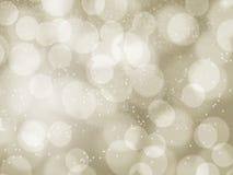 Gouden licht bokeh voor X'mas-achtergrond royalty-vrije illustratie