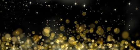 Gouden lichte achtergrond Stock Fotografie