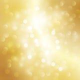 Gouden lichte achtergrond Stock Foto
