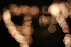 Gouden lichte achtergrond bokeh Stock Afbeeldingen