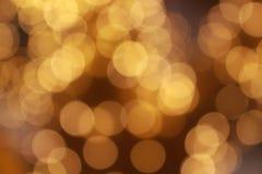 Gouden lichte achtergrond bokeh Royalty-vrije Stock Fotografie