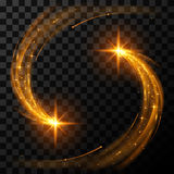 Gouden lichte sterren Stock Afbeeldingen