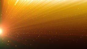 Gouden lichte toekenningsachtergrond stock video