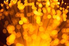 Gouden Lichten Abstracte Achtergrond Stock Foto's