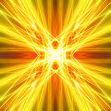 Gouden lichtstralen met grungeelementen Vector Illustratie
