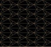 Gouden lijnenpatroon Vector geometrische naadloze textuur met subtiel net, netwerk royalty-vrije illustratie