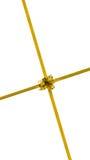 Gouden lint met het knippen van weg Stock Afbeelding