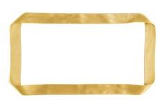 Gouden lint vierkant kader Stock Foto