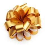 Gouden lintboog Stock Afbeelding
