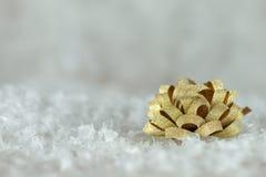 Gouden lintboog Royalty-vrije Stock Afbeelding