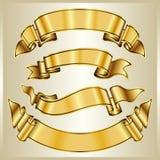 Gouden lintinzameling Royalty-vrije Stock Afbeelding