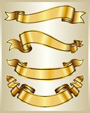 Gouden lintinzameling Royalty-vrije Stock Fotografie