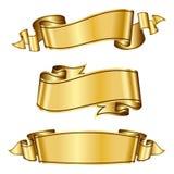 Gouden lintinzameling Stock Afbeeldingen