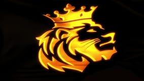 Gouden Lion King Flag Intro Logo-Motieachtergrond V2 vector illustratie