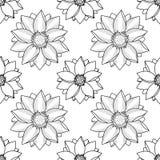 Gouden Lotus Modern Seamless Pattern Royalty-vrije Stock Foto