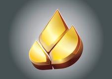 Gouden Lotus-vector Stock Afbeelding