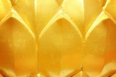Gouden lotusbloem Stock Foto's