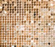 Gouden lovertjes - het fonkelen sequined textuur stock afbeelding