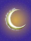 Gouden maan stock illustratie