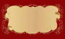 Gouden malplaatje Royalty-vrije Stock Afbeelding