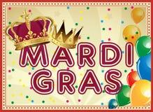 Gouden Mardi Gras-ontwerpelement Carnaval-Achtergrond Twee Carnaval-kronen Royalty-vrije Stock Foto