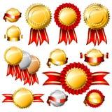 Gouden markeringen Royalty-vrije Stock Fotografie