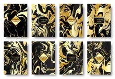 Gouden marmer als achtergrond Royalty-vrije Stock Afbeeldingen