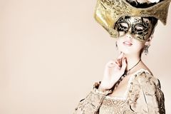 Gouden masker Stock Foto