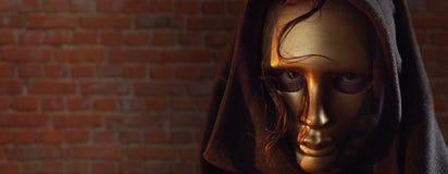 Gouden masker. Stock Afbeelding