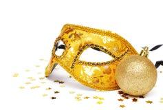 Gouden masker Stock Afbeeldingen