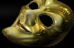 Gouden Masker Stock Afbeelding