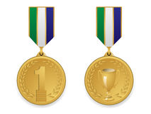 Gouden medaille stock foto's