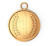 Gouden medaille royalty-vrije illustratie
