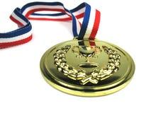 Gouden medaille Royalty-vrije Stock Afbeeldingen