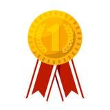 Gouden medaille voor de eerste vectorillustratie van de plaatsprijs Stock Foto