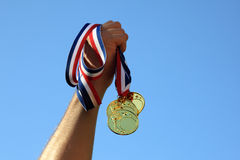 Gouden medaillewinnaar Royalty-vrije Stock Afbeelding