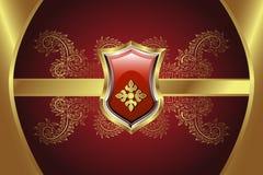 Gouden Medaillon Royalty-vrije Stock Afbeeldingen
