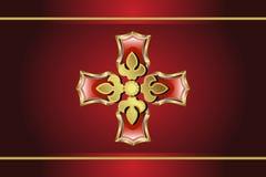 Gouden Medaillon Royalty-vrije Stock Afbeelding