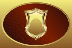 Gouden Medaillon Stock Afbeelding