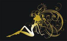 Gouden meisje Royalty-vrije Stock Afbeeldingen